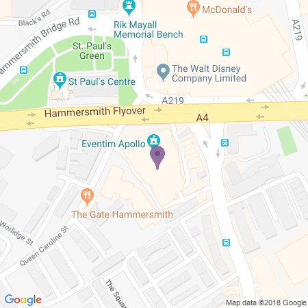 Hammersmith Apollo (Eventim) Beliggenhet