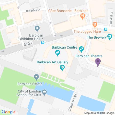 Barbican Theatre Beliggenhet