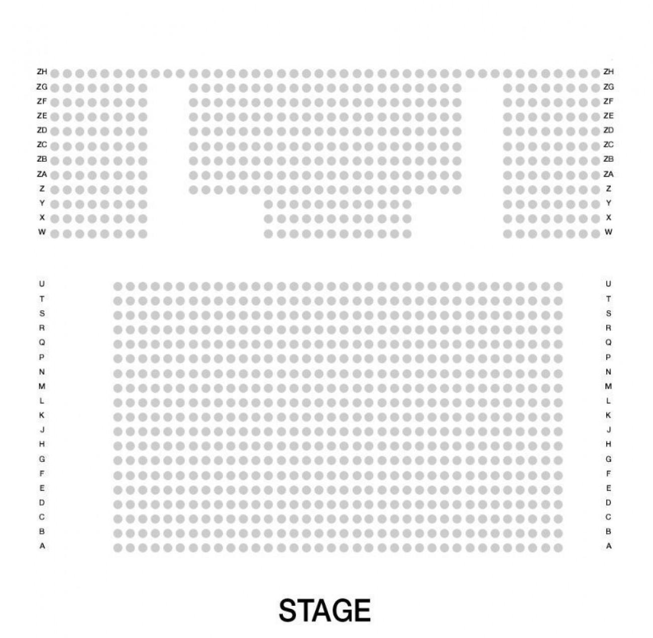 Troubadour White City Theatre seteplan