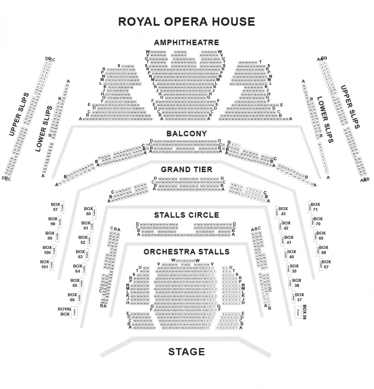 Royal Opera House seteplan